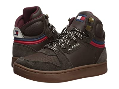Tommy Hilfiger Kids Cade Court Mid (Little Kid/Big Kid) (Chocolate) Kid