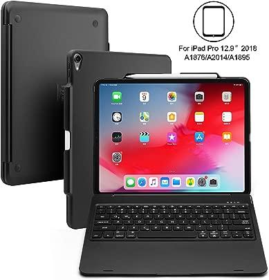 BECEMURU iPad Pro 12 9 Tastaturetui 7-farbige hintergrundbeleuchtete drahtlose Bluetooth-Tastatur mit ABS-Folio-Schutzh lle f r 2018 Modell iPad Pro 12 9 Schwarz Schätzpreis : 47,99 €