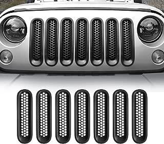 American 4wheel Jeep Wrangler Grill Inserts JK Grille Inserts Jeep Wrangler Accessories JK JKU & Unlimited Rubicon Sahara Sports 2007-2015(Matte Black)