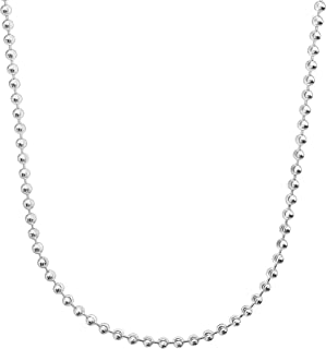 Valentina' Beaded Necklace in Sterling Silver