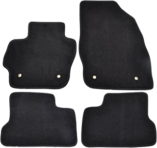 Floor Mats Compatible With 2010-2013 Mazda 3 | Factory Fitment Car Floor Mats Front & Rear Nylon by IKON MOTORSPORTS | 2011 2012