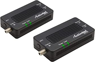 Best Actiontec Bonded MoCA 2.5 Network Adapter True 2.5 Gbps Ethernet Port for Ethernet Over Coax (2 Pack) – Extremely Fast Streaming, Gaming, Work/Learn from Home (Model: ECB7250K02) Reviews