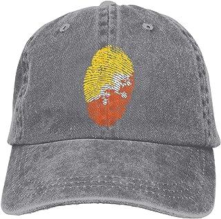 Bandera de Bhután Gorra de Vaquero Unisexo Ajustable Camionero Gorra de béisbol Gris