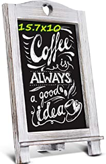 Homemaxs 15.7'' X 10'' Chalkboard Signs, Rustic Magnetic Tabletop Chalk Board with Frame and Hanging String, Easel Counter...
