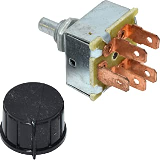 ROTARY AC AIR CONDITIONING 3 SPEED BLOWER SWITCH FOR UNIVERSAL 'INDAK'
