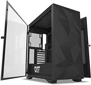 darkFlash DLX21 Mesh ETX/ATX/Micro ATX/Mini ATX Tower Computer Case, Two Doors Opening PC Gaming Case, Tempered Glass Side...
