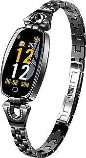 AOCKS H8 Smart Watch Blood Pressure Heart Rate Monitor Sport Waterproof Bracelet New Fitness Tracker (Silver)