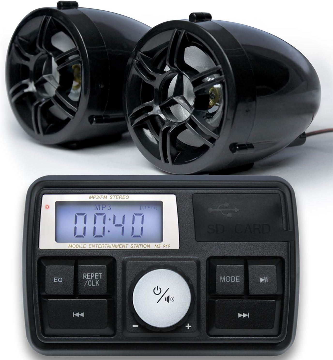 """GoHawk TT3 3"""" Spasm price Waterproof Bluetooth Under blast sales Stereo Motorcycle Speake"""