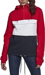 Urban Classics Ladies Color Block Sweat Pullover Sweatshirt Capuche Femme