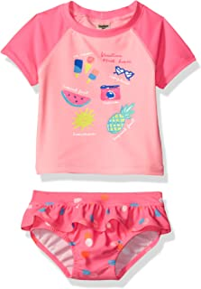 Osh Kosh Baby Girls' Vacation Must Haves Rash Guard Set
