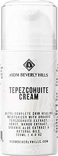 ASDM Beverly Hills Tepezcohuite Face Cream 4oz 120ml Collagen Booster w/Hyaluronic Acid, Anti-Aging, Remove Wrinkle, Acne Scar, Eczema, Anti-Inflammatory,Calming Hydrate Sensitive Healing Moisturizer