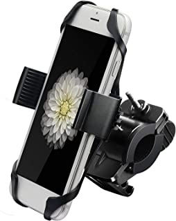 DAIXI Bike Phone Mount, 360° Rotatable Motorcycle Phone Mount Bike Phone Holder, Universal Adjustable Silicone Holder Compatible with iPhone XR/XS Max/X/8 Plus/7, Samsung Galaxy