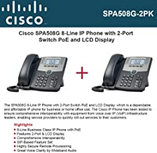 Cisco IP Phone SPA508G (2-UNITS) 8-Line with 2Port Switch PoE and LCD Display