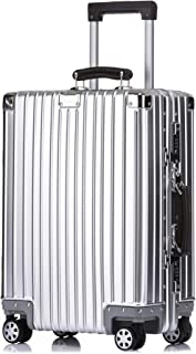Kroeus Carry On Luggage Suitcase Aluminum Magnesium Alloy Body 20 Inch Silver