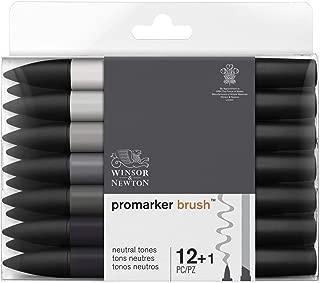 Winsor & Newton Promarker Brush, Set of 12, Neutral Tones