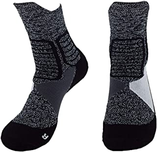 Men's Basketball Socks Compression Athletic Crew Socks Protective Cushion Nylon Performance Dry Fit for Causal Use Running