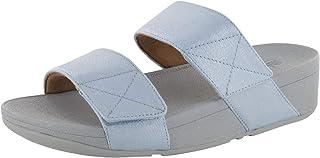 Womens Mina Shimmer Denim Slide Sandal Shoes