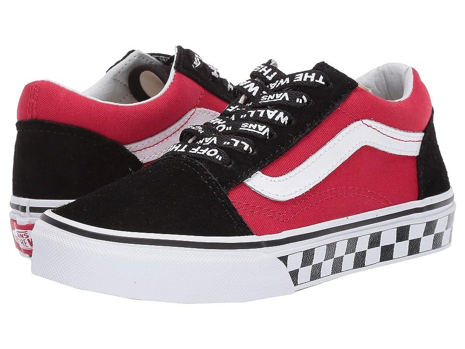 Vans Kids Old Skool (Little Kid/Big Kid) (Logo Pop) Black/True White) Boys Shoes