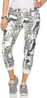 bd15b12929b018 ZARMEXX Damen Freizeithose Baggy Jogg-Pants Sport Sommerhose Pop Art Print  Streetwear