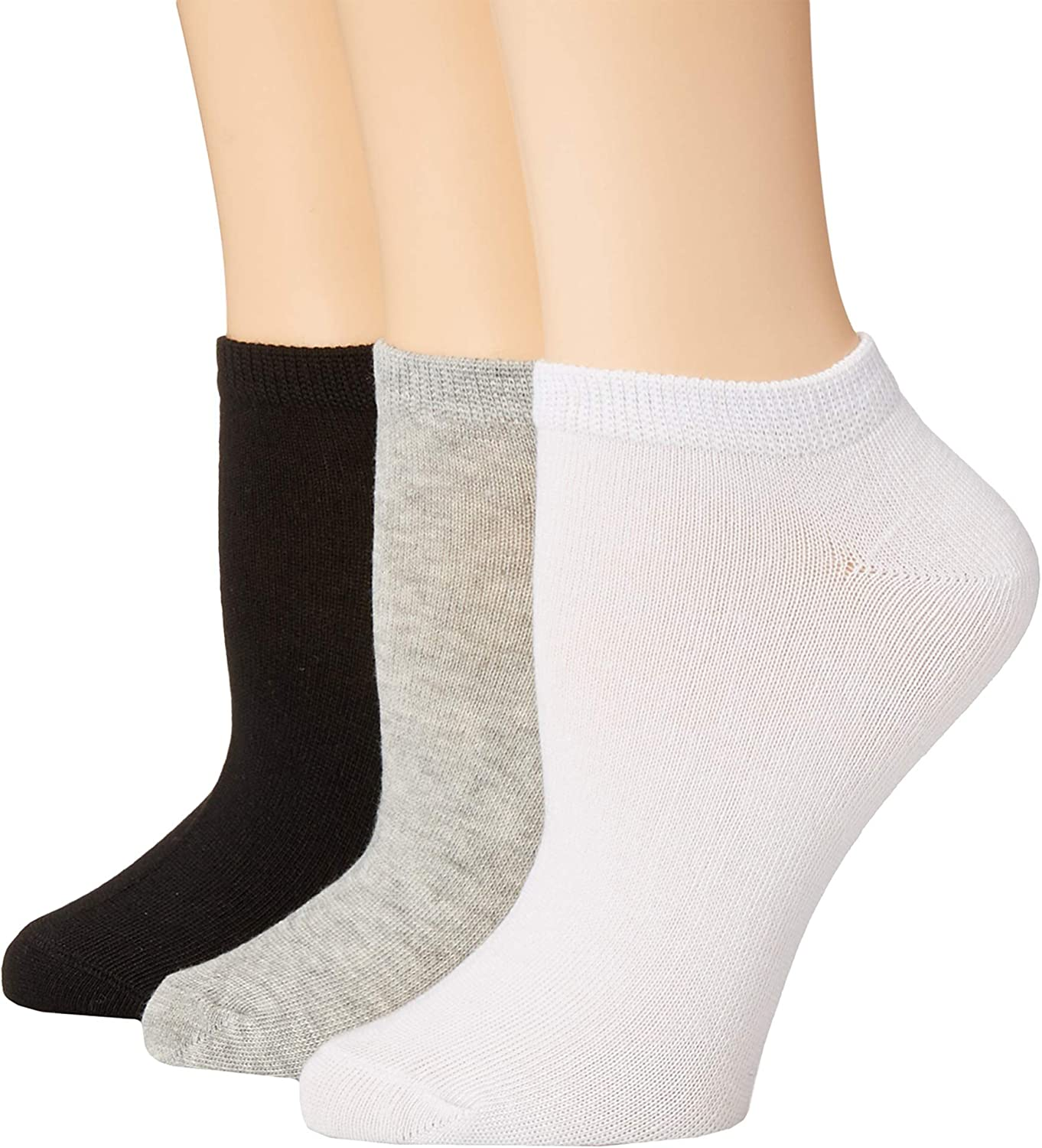 Betsey Johnson Womens 10Pack Solid Low Cut Socks
