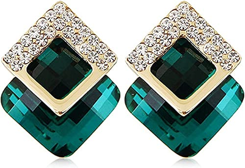 Jewellery Gold Plated Crystal Earrings For Girls And Women