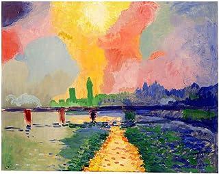 LWPCP Puente De Charing Cross Monet Pinturas Decorativas Aerosol Micro Lona Impresiones