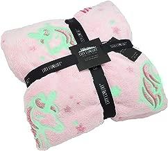 CityComfort Manta Polar Unicornio Brilla en la Oscuridad Fleece Blanket Mantas Nordicas para Niñas (Rosa)