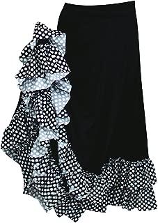 Basic Moves Adult Polka Dot Double Ruffle Flamenco Polyester Skirt