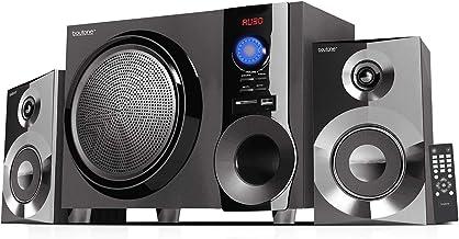 Boytone BT-225FB Wireless Bluetooth Stereo Audio Speaker Bookshelf System, Powerful Bass, Treble, Clear Sound, FM Radio, U...