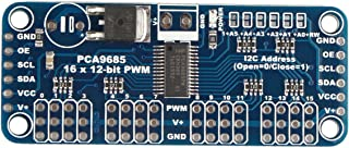 HALJIA 16 Canales, 12 bits PWM Servo Motor Controlador I2 C módulo Junta pca9685 Compatible con Arduino Robot//Raspberry Pi