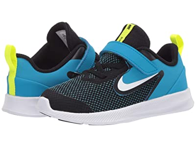 Nike Kids Downshifter 9 (Infant/Toddler) (Black/White/Laser Blue/Lemon Venom) Boys Shoes