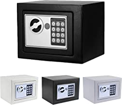 Security Safe, Fireproof Lock Box with Digital Lock Wall Safe for Jewelry Gun Cash Storage (Black.)