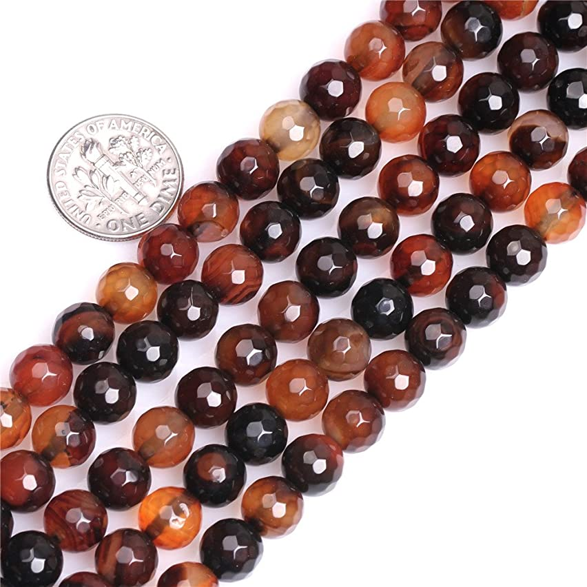 8mm Round Faceted Gemstone Dream Lace Agate Beads Strands 15 Inch Jewelry Making Beads