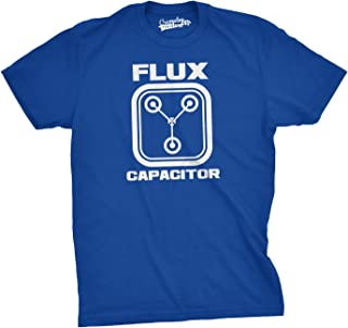 Flux Capacitor T Shirt Funny Vintage Retro 80s Movie T Shirts for Men