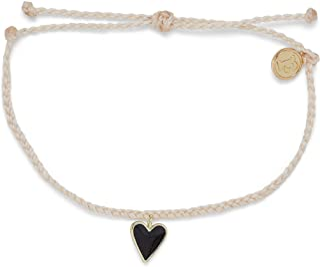 Pura Vida Gold or Silver or Rose Gold Petite Heart Bracelet - Waterproof Band