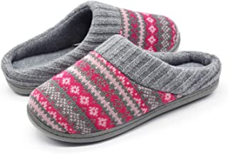 RockDove Women's Sweater Knit Memory Foam Slipper with Indoor Outdoor Sole