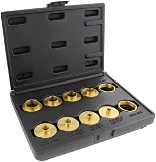 DCT Brass Router Template Guides Bushing 8-Piece Set & 2 BONUS Lock Nuts – Porter-Cable Guide Bushings 5/16 to 1in