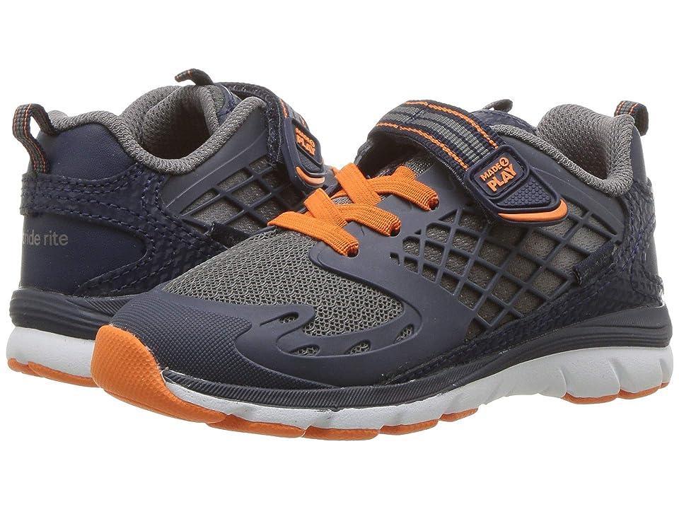 Stride Rite M2P Breccen (Toddler) (Navy/Orange) Boys Shoes