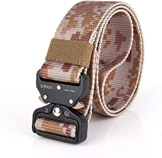 TACVASEN Men's Tactical Utility Nylon Waist Belt Heavy Duty Waistband Military Belts With Metal Buckle