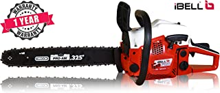 """iBELL Gasoline Chain Saw 56CC Professional Quality, Magnesium Alloy Crank Case, Walbro Carburetor, Oregon Guide bar 18"""" and Oregon Chain with One Year Warranty"""