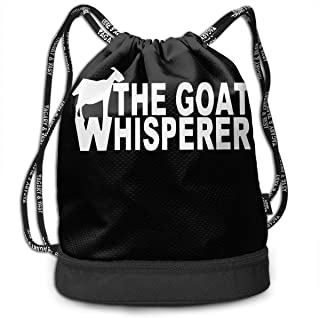 Goat Whisperer Backpack Drawstring Bag Sports Gym Bag Basketball Gym Hiking Travel Beach Gym Bag For Women Men