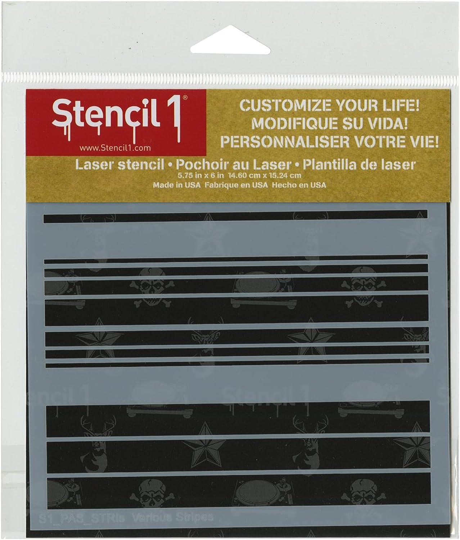 Stencil1 15,2 x 15,2 cm cm cm stencil-various Streifen B00UY12KG2     | Auf Verkauf  121ae8
