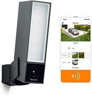 Netatmo Smart säkerhetskamera för utomhusbruk med 105-dB siren Wi-Fi, integrerad strålkastare, rörelsedetektion, mörkersee...