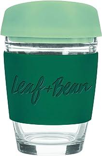 LEAF & BEAN Sorrento Glass Travel Mug, Multi, DLE0049GR