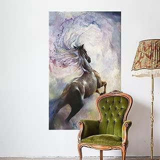 Wallmonkeys Carousel Dancer Watercolor Horse Wall Mural by Denton Lund (72 in H x 44 in W) WM221432
