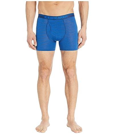 Icebreaker Anatomica Merino Boxers w/ Fly (Stripe Estate Blue) Men