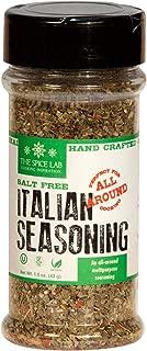 The Spice Lab Italian Seasoning - Salt Free Seasoning Spice Shaker Jar –1.5 oz- Excellent Pasta Sauce or Pizza Sauce Seasoning - Gluten Free No Salt All Natural - Italian Dried Herbs Blend No 5025