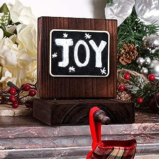 Aytai DIY Chalkboard Christmas Stocking Hanger, Rustic Wood Stocking Holders Christmas Decorations for Home, Holiday Xmas Supplies