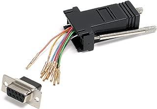 StarTech.com DB9 to RJ45 Modular Adapter - F/F - Serial adapter - DB-9 (F) to RJ-45 (F) - GC98FF