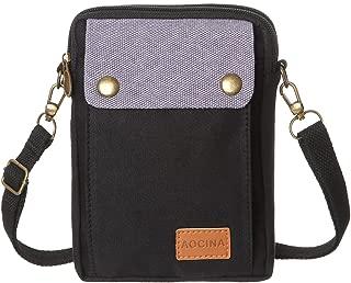 AOCINA Cell Phone Purse Wallet Canvas Big Pocket Women Small Crossbody Purse Bags